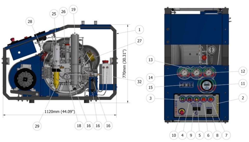 Coltri MCH 16 ERGO machine parts