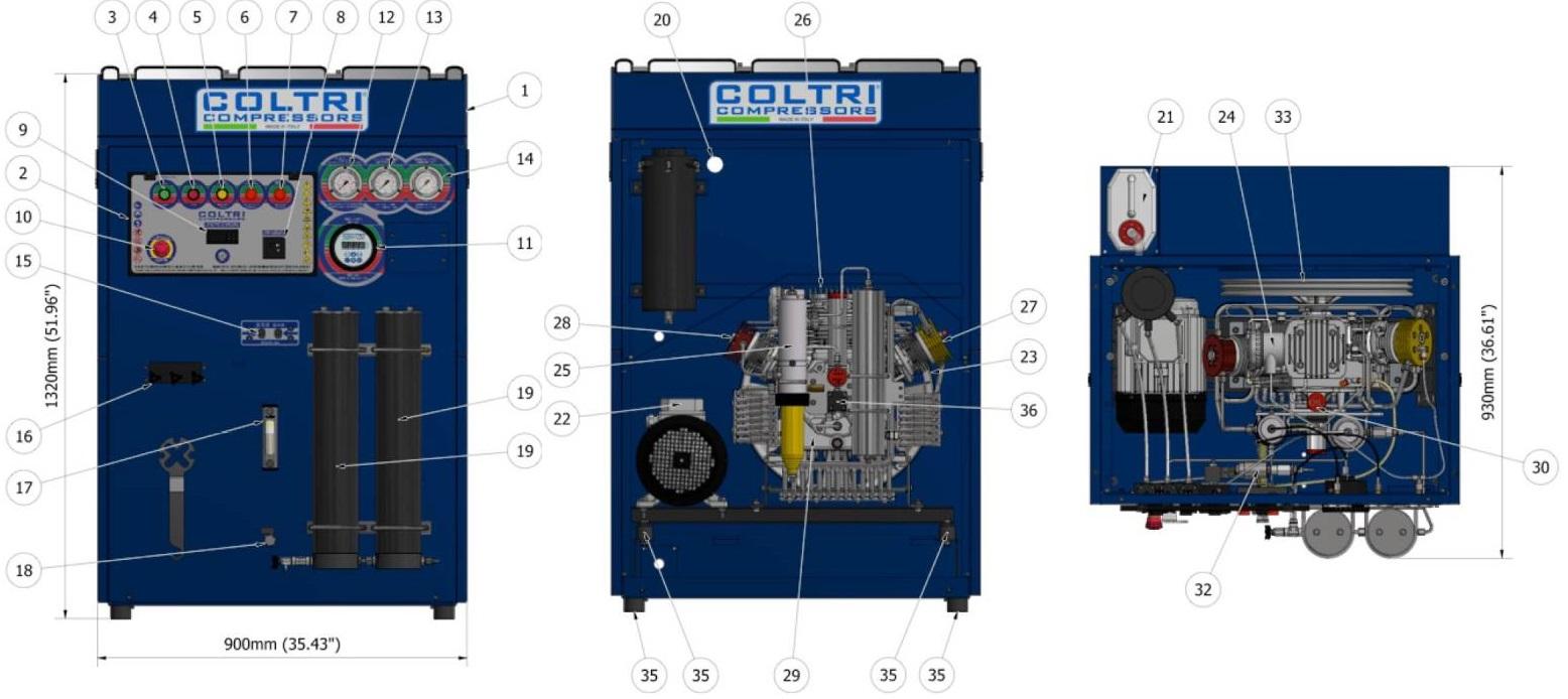 mch 23 super silent tps machine parts
